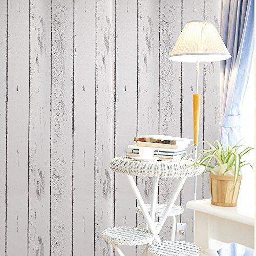 Deko Weiß Holz Getreide Kontakt Papier Selbstklebende Rückseite Regalen schälen und Stick Tapete für, Küche Schrank zinntheken Böden Craft Projekte 45 x 1000 cm (Kontakt-papier-holz)