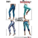 Simplicity Patterns Creative Patterns Misses' & Women's Leggings Pattern, Bb (1X-5X)