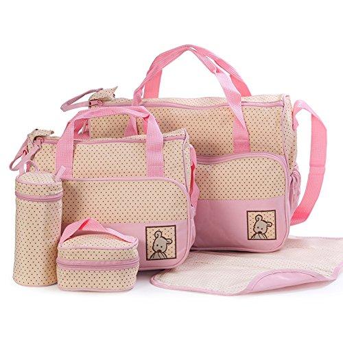 Yimidear 5teiliges Wickeltaschen Umhängetaschen mit Schnallen Rucksäcke Handtasche Schnullertasche windeltasche