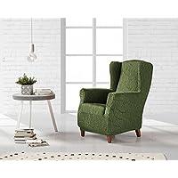 DECORACION NUEVO ESTILO- Funda de sofá ALEXIA en tejido elástico, tamaño Orejero color 04 Verde (varios colores y medidas)