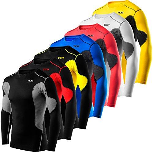 Mens & Boys TCA SuperThermal Compression Base Layer Top Long Sleeve Thermal Under Shirt - Crew Neck/ Mock Neck