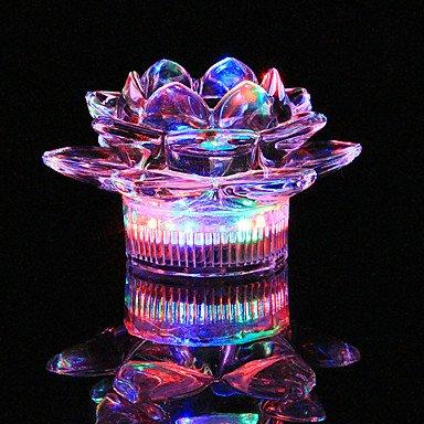 CLCJW Éclairage créatif,1pc coloré couleur créatif verre bougeoir lampe veilleuse de LED barres KTV drinkware