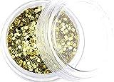 1 de digitación Dots chuchería/disfraz discotequero, redondo, diámetro de 1 mm para~~GOLD-METALLIC~~