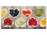 GRAZDesign 100454_001_01_04 Glasbild aus Acryl | Wandbild mit Bild-Motiv Herzschalen mit Obst | Küchenbild als Wand-Dekoration für Küche/Esszimmer (100x50cm)