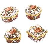 Vaibhav Ceramic Storage Box Home Decoration Set Of 4 (Red)
