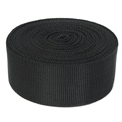 51bF7 2SnhL. SS500  - KING DO WAY Nylon Webbing Tape Multi-purpose For DIY Craft Backpack Strapping Apron Bunting Black 5cmx10m