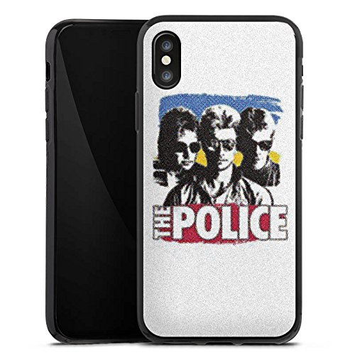 Apple iPhone X Silikon Hülle Case Schutzhülle The Police Fanartikel Merchandise Sting Silikon Case schwarz