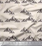 Soimoi Weiß schwere Leinwand Stoff Berg Natur Stoff Drucke