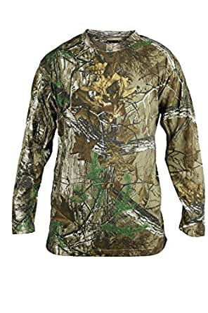 Mens Long Sleeve Camouflage Print Forest Jungle Tshirt
