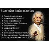 LOOK DECOR Albert Einstein Quotes Poster For Room Inspiring Design Collection Quotes And Messages Posters. Posters For Boys And Girls Wall Decals For Home And Office Poster For Study Room Gym Poster Motivational Messages Funny Funky Cool Captions And Sayi