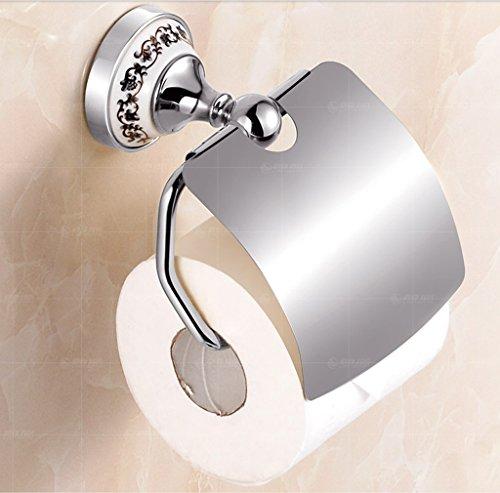 Hyun times Continental Handtuchhalter Toilettenpapier-Boxen Mehrfarben Gesundheit Karton antiken Toilettenpapierhalter Toilettenpapierhalter Handschale ( Farbe : Chrom )