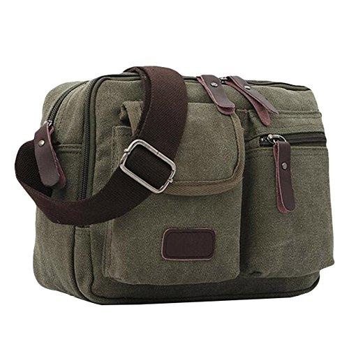 Uomini Taiycyxgan Messenger Bag Borsa A Tracolla Di Tela Schultertashce Tela Borsa Di Svago Verde