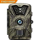 "EARTHTREE Wildkamera, 12MP 1080P Full HD Jagdkamera Low Glow Infrarot 20m Nachtsicht ¨¹berwachungskamera 2.4"" LCD IP66 Wasserdichte Nachtsichtkamera Wildkamera Fotofalle"