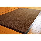 FunkyBuys® Barrier Mat Large Brown /Black Door Mat Rubber Backed Medium Runner Barrier Mats Rug PVC Edged Heavy Duty Kitchen Mat(80 X 120 Cm) by AHOC