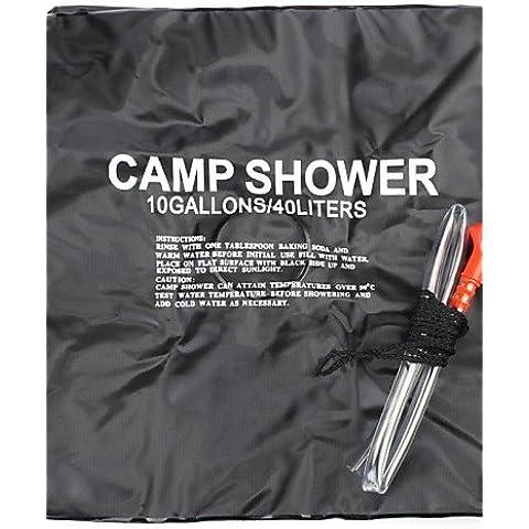 desy nuovo campeggio di arrivo di modo 40L un'escursione sacchetto di acqua tubo portatile riscaldata doccia esterna , black