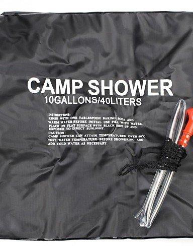 ZQ nuovo campeggio di arrivo di modo 40L un'escursione sacchetto di acqua tubo portatile riscaldata doccia esterna , black