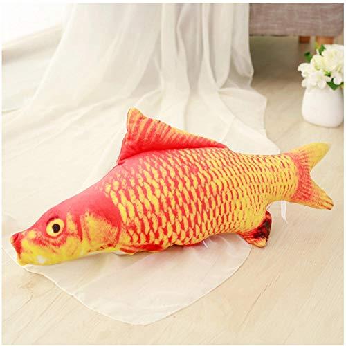 FUUYUHAN Lucky Red Carp Plüschtiere Weiche Kuscheltier Koi Fisch Puppen Kreative Kissen Für Katzen Hunde Kinder 40 cm