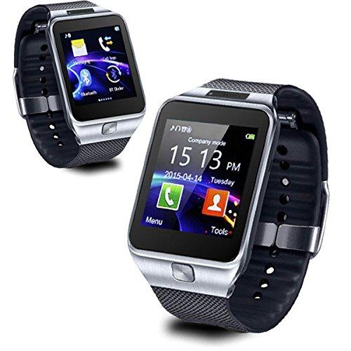 Indigi® 2en 1interconvertible Bluetooth sincronización inteligente reloj teléfono w/opcional ranura para tarjeta SIM Micro SIM para Vodafone, Naranja, T Mobile (plata)