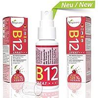 Vitamin B12 Spray | Sprühen statt Tabletten schlucken | Kirschgeschmack | nur 1 mal sprühen pro Tag | 250 µg Methylcobalamin pro Sprühstoß | Hohe Bioverfügbarkeit | 4 Monatsvorrat | Vegan | Vegavero: from Nature - with Passion - for You!