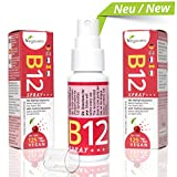 Vitamina B12 Spray Vegavero | Integratore di Vitamina B12 Vegana - Spray gusto Ciliegia | Assorbimento immediato - Forma Attiva | Scorta di 4 mesi | 100% Vegan - No Glutine | Analisi a disposione!