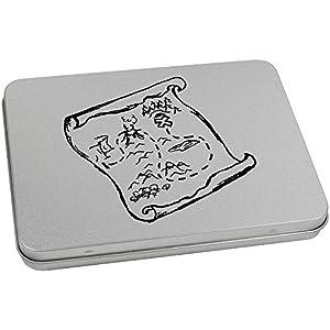 170mm x 130mm 'Mapa del Tesoro' Caja de Almacenamiento / Estaño de Metal (TT00050817)