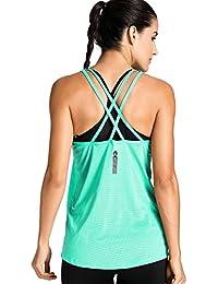Meliwoo - Camiseta Deportiva de Tirantes Prendas Deportivas Para Mujer cd77d89f34ac6