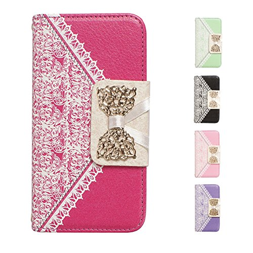 "D9Q Flip Cover Wallet Card Slot Stehen Luxus PU Leder Case Hülle Protector für iPhone 6 4,7"" !!Schwarz"