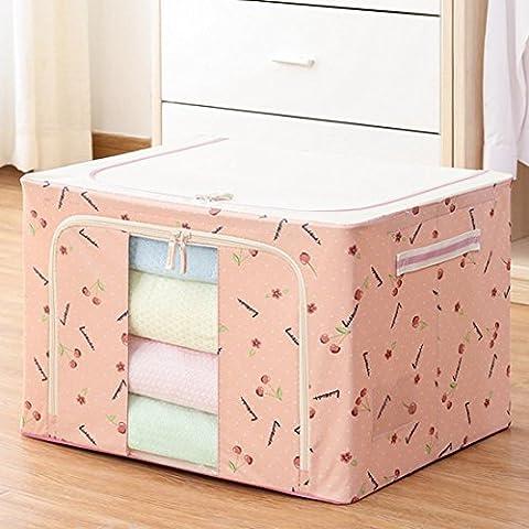 siyang Storage Cube Organizer mit Griff und Tür Lagerkästen für Mädchen, Polyester, rose, 15.7x11.8x7.9In