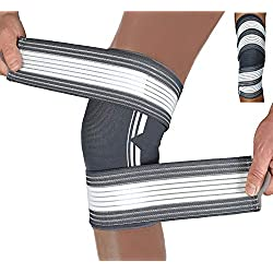 Belmusco Die Doppel Fixierbare Kniebandage für Damen und Männer bietet mehr Stabilität im Alltag und Sport