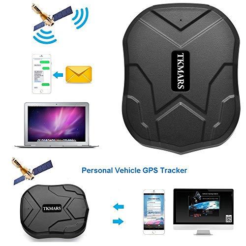 GPS Tracker 3 Mesi Standby Tracking in Tempo Reale Tracciatore di Posizione GPS Localizzatore Allarme App Gratuita, Antifurto per Auto/ Veicoli Moto Camion con Magnete Batteria 5000mah TKMARS