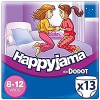 Dodot Happyjama - Pañales para niñas de 8-12 años, tipo ropa interior absorbente, 13 unidades