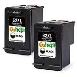 Gohepi Remanufactured HP 62XL 62 Druckerpatronen 2er-Pack Schwarz für HP Envy 5540 5544 5546 5640 5642 5644 7640 5646 5542, HP OfficeJet 200 5740 5742 5744