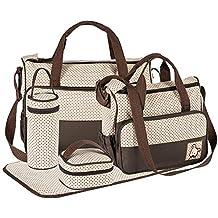 88aecca6b51 FREESOO Set 5 kits Bolsa de Mama Para Bebe Biberon Bolso Cambiador de  Pañales Bolsillo Maternal