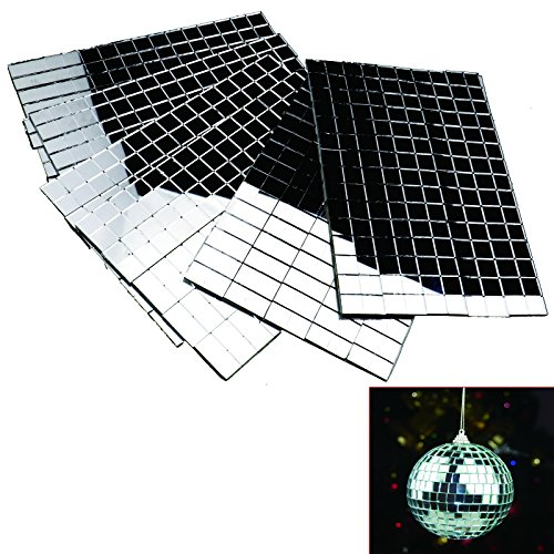 6 Sheets x 150pcs Tiny Silver Mirror Mosaic Tiles DIY Xmas Decoration 10 x 10mm