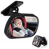 HITECHLIFE Interni per Auto Specchietto Retrovisore Specchietto Retrovisore Cura del Bambino Monitoraggio del Bambino Specchio Retrovisore con Visiera Parasole Regolabile a 360 Gradi