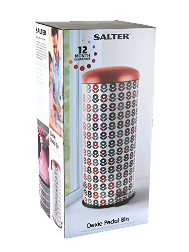 Salter BW05075 Dexie 30 Litre Red Kitchen Bin