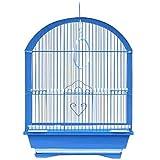 Gabbia Per Uccelli Gabbietta Canarini Colori Assortiti 45x28x34 cm Forma Cupola