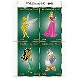 Walt Disney Princesas Disney sellos de colección con Jasmin, Campanilla y Cindarella / 2014 / Chad / 1000F