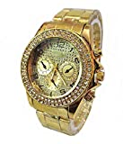 AKAG Gold Dial Round Analogue Womens Wat...
