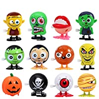 Amosfun Halloween Party Toy Sets Halloween Wind Up Toys Novelty Mini Toys for kid boys,set of 12