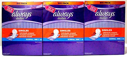 always-dailies-individually-wrapped-normal-pantyliner-3-x-48-count-by-always