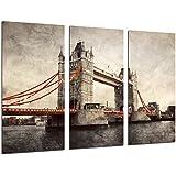 Cuadro Moderno Fotografico Paisaje Londres Vintage, Puente de Londres, Tower Bridge, 97 x 62 cm, ref. 26503