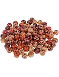 Phenovo 100 Pieces Mixed Printed Wood Beads Large Hole Bead Diy Jewelry Accessories Make Necklace Bracelet Macrame Craft Project Beads & Jewelry Making Beads