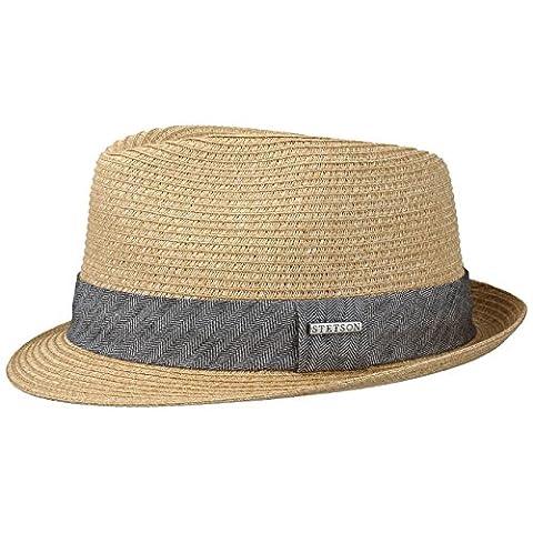 Reidton Toyo Trilby Straw Hat Stetson men´s hat summer hat (L/58-59 - nature)