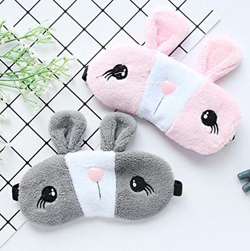 msyou Cute Eye Maske Kaninchen Form Soft Sleep Maske Verstellbare Schlafmaske Augen Cover für Hause Büro Reisen ()