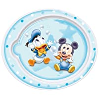 Rotho Babydesign 301200011 Flacher Esslernteller Mickey Mouse