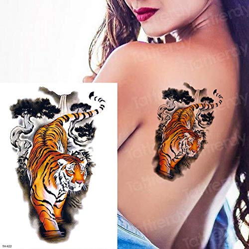Handaxian 3pcs Tattoo Tier Sticker Bikini Wasserdicht Body Art 3pcs-17 -