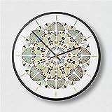 BBQBQ Orologio da Parete Tondo, Home Office, Soggiorno, Decorazione Cucina,Orologio da Parete Arte Astratta Soggiorno Nero - B 12 Pollici