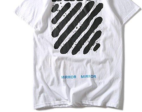 BOMOVO Herren Off White Originals T-Shirt Kurzarmshirt Print-Shirt Schwarz