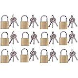 12 Vorhängeschlösser + 36 Schlüssel, Gleichschließend (38mm /30852)